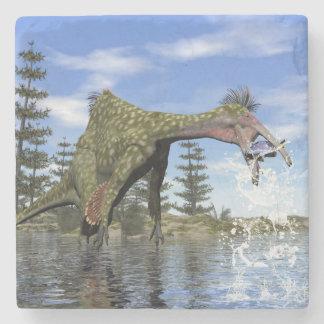Deinocheirus dinosaur fishing - 3D render Stone Coaster