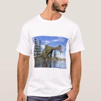 Deinocheirus dinosaur fishing - 3D render T-Shirt