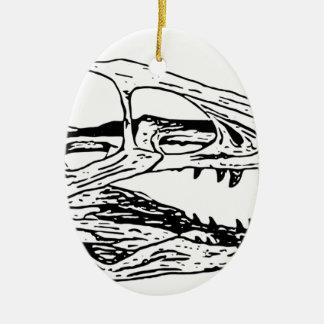 Deinonychus Ceramic Oval Ornament