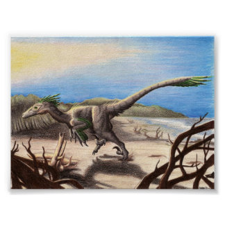 Deinonychus on the Beach Print