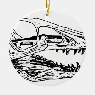 Deinonychus Round Ceramic Ornament