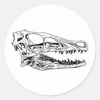 Deinonychus Round Sticker