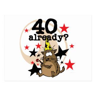 Déjà anniversaire 40 carte postale