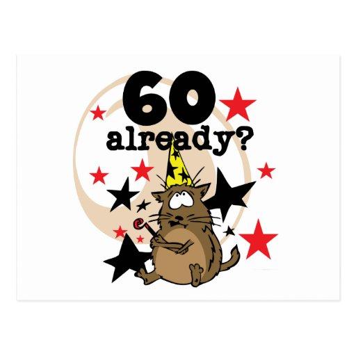 Déjà anniversaire 60 carte postale