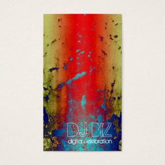 Deja Blue - Rainbow Grunge Business Card