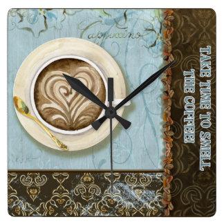 Deja Brew Coffee Java Cappuccino Cup Clock