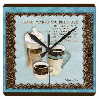 Deja Brew Coffee Makes You Brilliant Clock