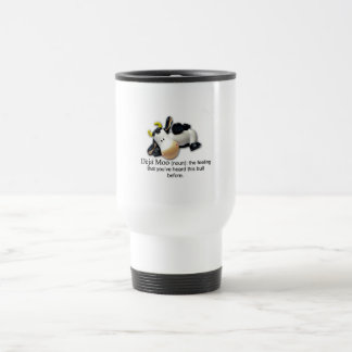 Deja Moo Bull Comic Travel Mug