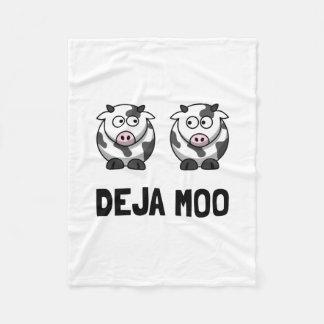 Deja Moo Fleece Blanket