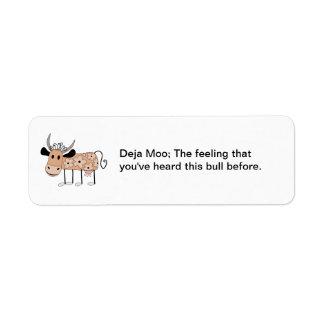 Deja Moo Return Address Label