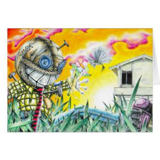Deja Vudoo - Cute Colorful Pin Cushion Doll Art Card