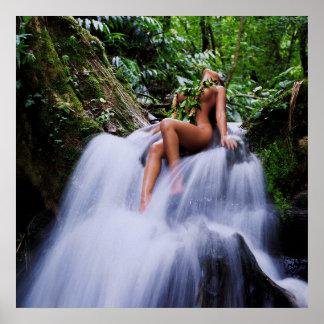 Deja Waterfall Poster