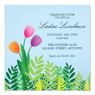 Déjeuner coloré de ressort de tulipes carton d'invitation  13,33 cm