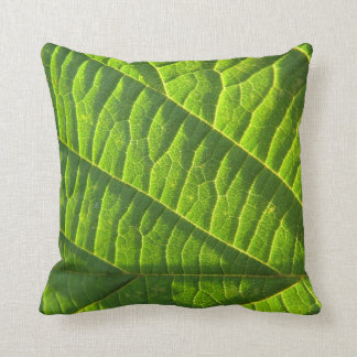Dekokissen cool, green sheet sample throw pillow
