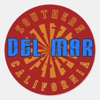 Del Mar, Southern California Classic Round Sticker