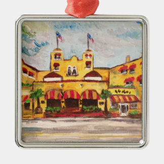 Del Ray Florida Colony Hotel Painting Ornament