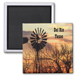 Del Rio texas souvenir windmill Magnet