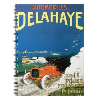 Delahaye Automobiles Spiral Note Book