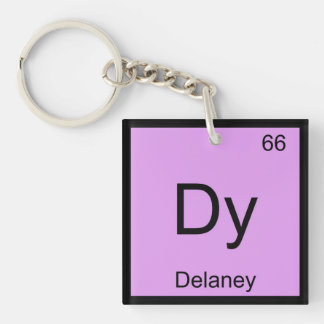 Delaney Name Chemistry Element Periodic Table Single-Sided Square Acrylic Keychain