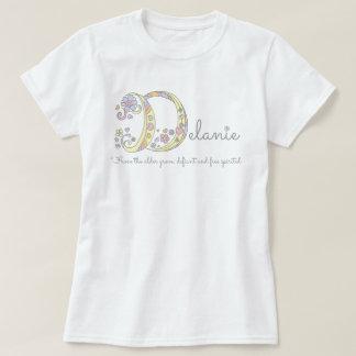 Delanie girls name meaning monogram hearts T-Shirt