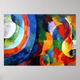 Delaunay - Circular Forms, Sun, Moon Poster