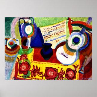 Delaunay - Portuguese Still Life Poster