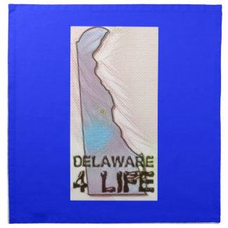 """Delaware 4 Life"" State Map Pride Design Napkin"