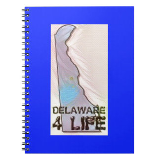 """Delaware 4 Life"" State Map Pride Design Notebooks"