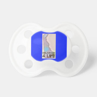 """Delaware 4 Life"" State Map Pride Design Pacifier"