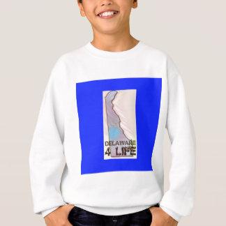 """""""Delaware 4 Life"""" State Map Pride Design Sweatshirt"""