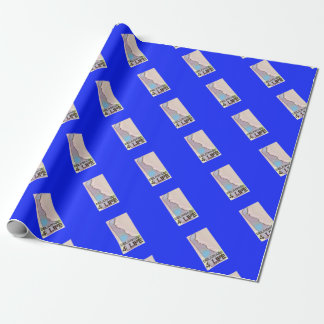"""Delaware 4 Life"" State Map Pride Design Wrapping Paper"