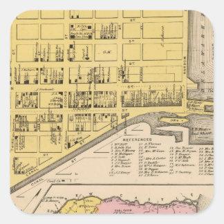 Delaware City, Red Lion Square Sticker