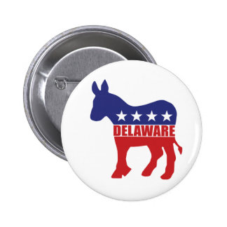 Delaware Democrat Donkey Pinback Buttons