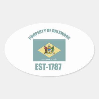 delaware  design oval sticker