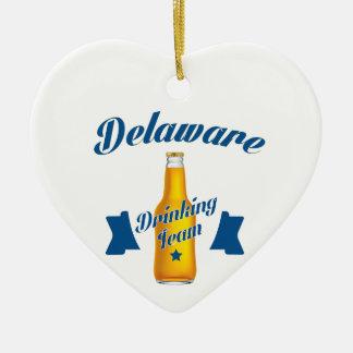 Delaware Drinking team Ceramic Ornament