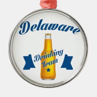 Delaware Drinking team Metal Ornament