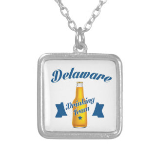 Delaware Drinking team Silver Plated Necklace