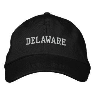 Delaware Embroidered Adjustable Cap Black Embroidered Baseball Cap