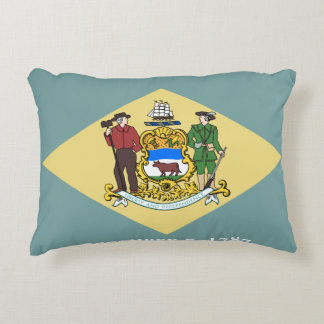 Delaware Flag Accent Pillow