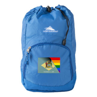 Delaware Flag Gay Pride Rainbow Flag Backpack