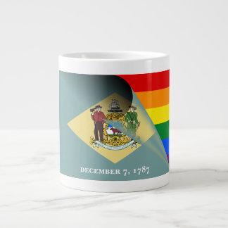 Delaware Flag Gay Pride Rainbow Large Coffee Mug