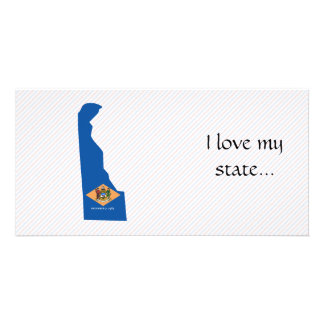 Delaware Flag Map Card