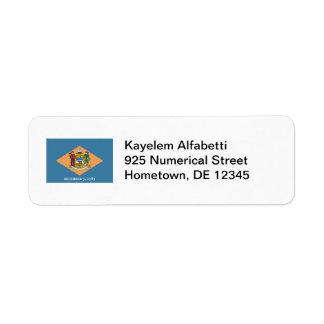 Delaware Flag Return Address Label