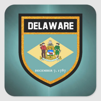 Delaware Flag Square Sticker