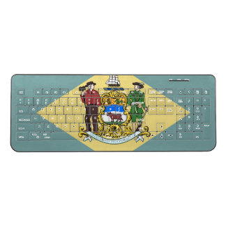 Delaware Flag Wireless Keyboard