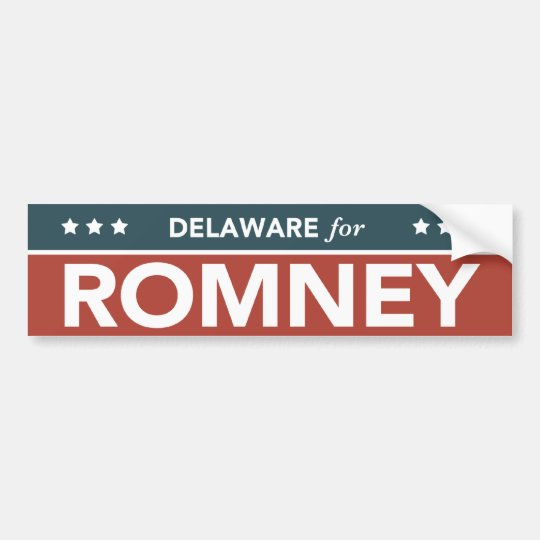 Delaware For Mitt Romney Ryan Bumper Sticker