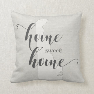 Delaware - Home Sweet Home burlap-look Throw Pillow