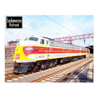 Delaware Lackawanna and Western Locomotive 808 Postcard