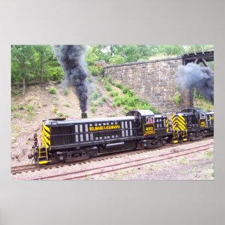 Delaware Lackawanna Railroad Alco RS-3s Poster
