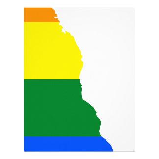 Delaware LGBT Flag Map Letterhead